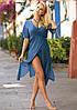 Длинное пляжное платье на запах (11 расцветок в размерах S-XL), фото 3