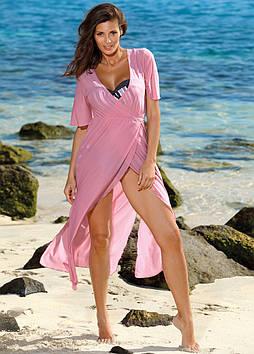 Длинное пляжное платье на запах (11 расцветок в размерах S-XL)