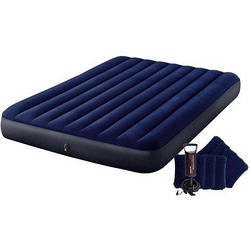Надувной матрас с подушками и насосом Intex 203х152х25 см (68765)