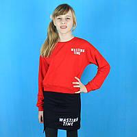 Детский костюм для девочки Wasting Time красный тм Toontoy размер 14 лет