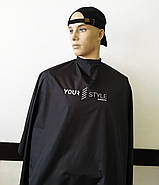 Пеньюар парикмахерский VSETEX | Накидка для клиента салона красоты, фото 6