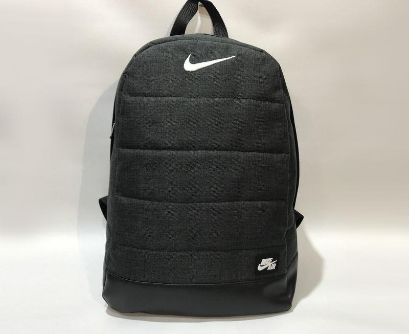 Рюкзак Матрац з білим логотипом. Колір: чорний меланж