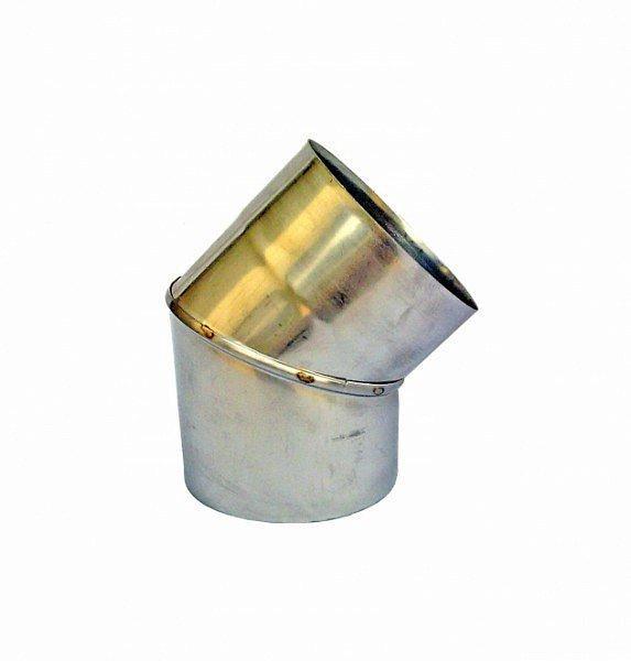 Одностенное Колено 45° Ø120 мм из нержавеющей стали