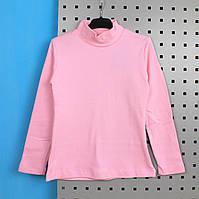 Водолазка с начесом детская Розовая тм Jefix размер 10,11,12 лет