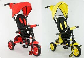 Детский модный трёхколесный велосипед с надувными колёсами