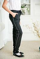 Брюки черные для девочки Лора №2 тм Angel  размер 116,122,134,140