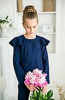 Блузка синяя для девочки Паула тм Angel размер 116,146