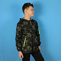 Детская куртка ветровка для мальчика с капюшоном тм S&D размер 8,10,16