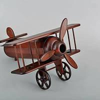 Мини бар самолет BST 40x24 см деревянный 090039