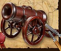 Пушка деревянная под бутылку подставка BST 48x30 см 090045
