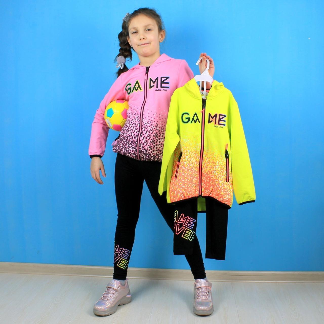 Детский костюм для девочки  кофта лосины Game Over тм F&D размер 134-140 см