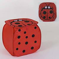 Корзина для игрушек Божья коровка 45х46см, в кульке