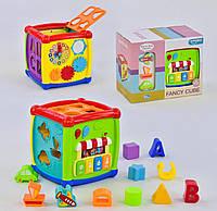 Куб Логический звуковые и световые эффекты, мелодии, в коробке