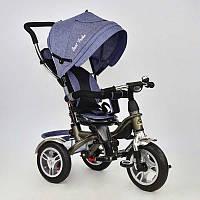 Трёхколёсный велосипед на надувных колёсах Best Trike родительской ручкой поворотное сидение