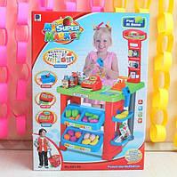 Супермаркет игровой набор с кассой, тележкой, товарами