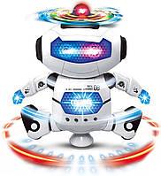 Интерактивная игрушка робот танцующий светящийся детский Dance 99444-2 (Белый)