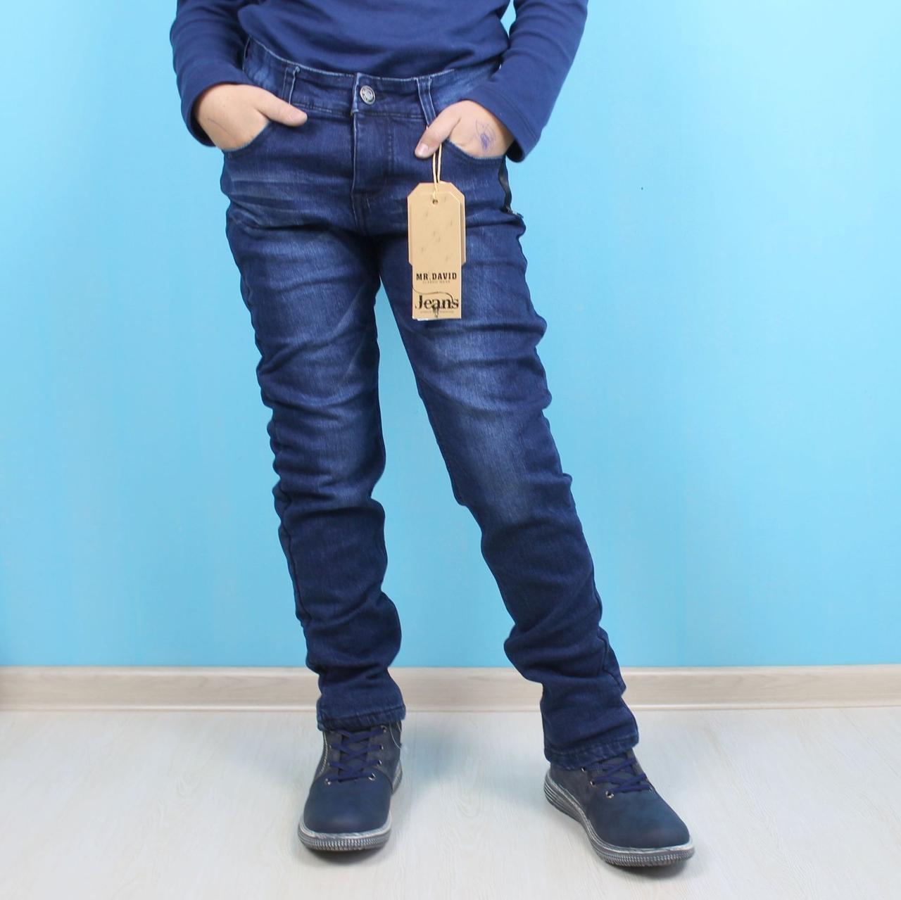 Теплые джинсы на флисе для мальчика тм MR. David размер/рост 164 см