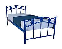 Металлическая односпальная кровать 90 х 200 SMART blue ТМ EAGLE