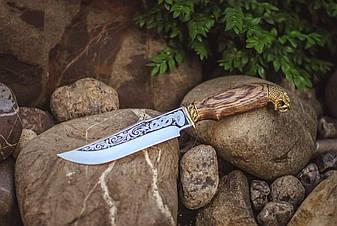 """Подарунковий ножа мисливського типу """"Деревне змій"""", 40Х13, фото 2"""