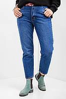 Синие джинсы мом батал весенние