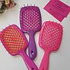 Расческа для волос Janeke Superbrush (Малиново-белая), фото 4