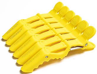 Пластиковый зажим для волос Crocodile желтый 6 шт