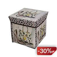 Пуфик с крышкой для хранения вещей Supretto Мишки (5163-0001)