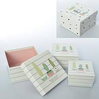 Шкатулка   сувенирная, 3шт, картон, 2вида, в кульке, 13,5-13,5-7см