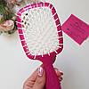 Расческа для волос Janeke Superbrush (Малиново-белая), фото 2