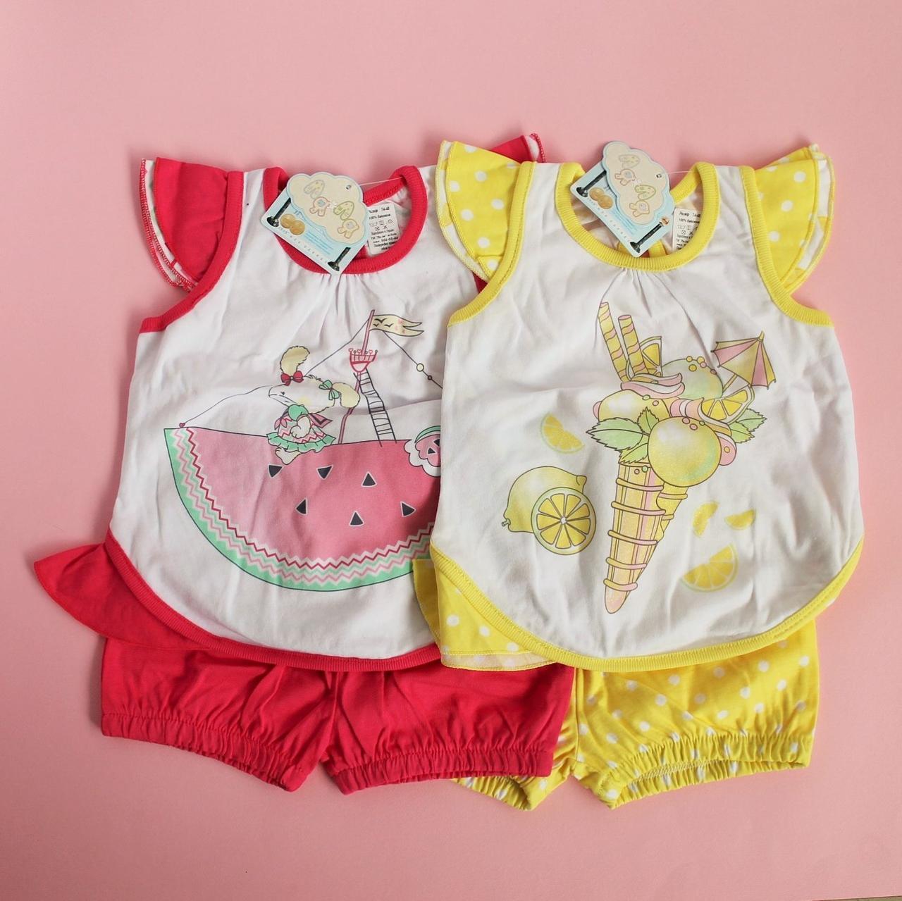 Набор для девочки майка шорты размер 74,86 см