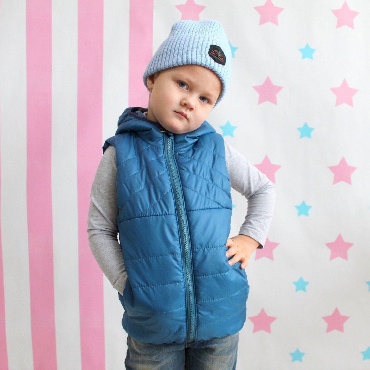 Жилет для хлопчика Одягайко синій розмір 98 см
