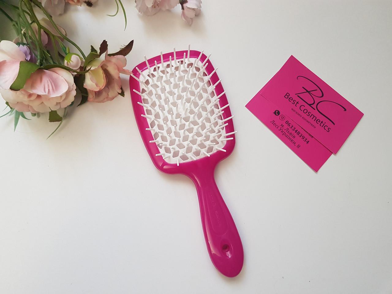 Расческа для волос Janeke Superbrush (Малиново-белая)