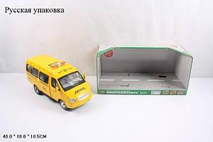 RUS Автобус PLAY SMART  такси инерц.муз.свет.кор.40*18*18,5 /12/