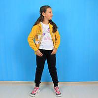 Спортивный костюм Единорог для девочки трехнитка Seagull  размер 6,12 лет