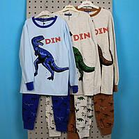 Детская трикотажная Пижама для мальчика Дино тм SETTY KOOP размер 10,14, фото 1