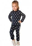 Вязаный детский костюм Джемпер Гамаши Звездочка синий тм TASHKAN размер 86,92,98,104,110,116