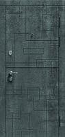 Дверь входная MODERN Лабиринт  бетон темный/бетон серый