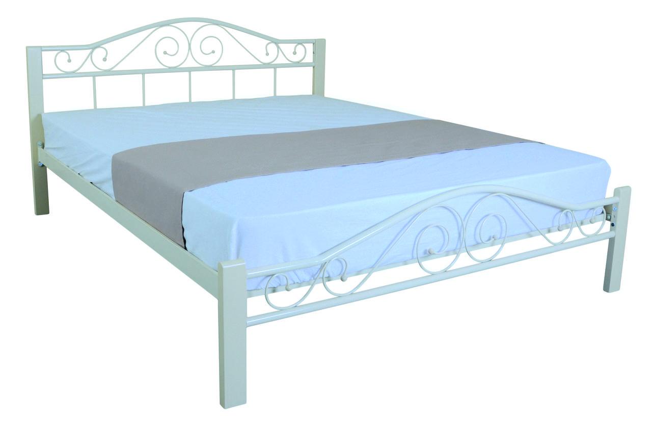 Металлическая кровать 160х200 VEDERI beige ТМ EAGLE