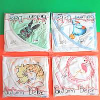 Детское полотенце плед для новорожденного с уголком