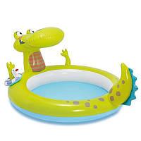 Детский надувной бассейн Интекс  Крокодил, 198-160-91см