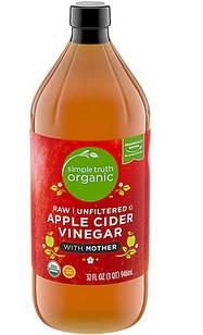 Simple Truth® Organic Apple Cider Vinegar Raw 5% Яблучний оцет натуральний органічний з м'якоттю 946 мл