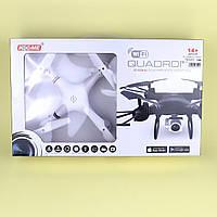 Игрушка Квадрокоптер р/у2,4G,аккум,30см,свет,камера, Wi-Fi, USBзар, 2 цвета, в кор-ке, 38,5-24-8с