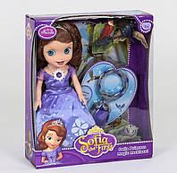 Кукла Принцесса с питомцами, свет, звук, светится платье, в коробке