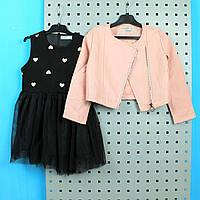 Детский костюм для девочки косуха с платьем тм GLO-STORY размер 130,150
