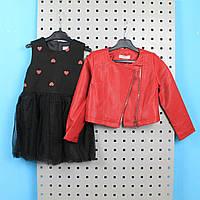 Детский костюм для девочки косуха с платьем тм GLO-STORY размер 120,140,150,160