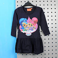Детское платье Шимер и Шайн синее тм Nickelodeon размер 92,98,104,110,116