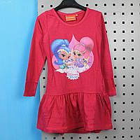 Детское платье Шимер и Шайн розовое тм Nickelodeon размер 92,98,104,110,116