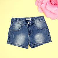 Детские джинсовые шорты девочке тм Glo-Story размер 122-128 см