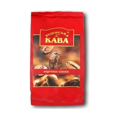 """Кава в зернах суміш Арабіка Робуста 50/50 темно середньої обжарювання Espresso Classic ТМ """"Віденська кава"""", 500г"""