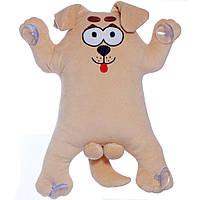 М'які іграшки Сувенірний пес на присосках 30 см тм Копиця